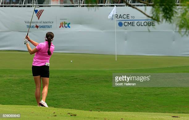 Gerina Piller hits a shot to the 18th green during the second round of the Volunteers of America Texas Shootout at Las Colinas Country Club on April...