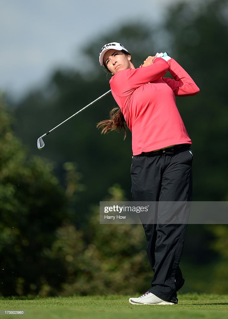 Gerina Piller hits a tee shot on the third hole during round one of the Manulife Financial LPGA Classic at the Grey Silo Golf Course on July 11, 2013 in Waterloo, Canada.