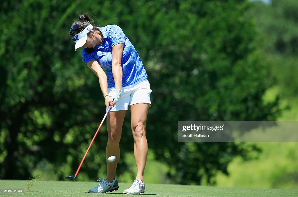 <a gi-track='captionPersonalityLinkClicked' href=/galleries/search?phrase=Gerina+Piller&family=editorial&specificpeople=7855082 ng-click='$event.stopPropagation()'>Gerina Piller</a> hits her second shot on the third hole during the final round of the Volunteers of America Texas Shootout at Las Colinas Country Club on May 1, 2016 in Irving, Texas.