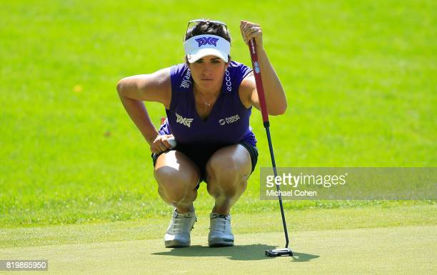 Gerina Piller lines up a putt on the 13th green during the first round of the Marathon Classic Presented By Owens Corning And OI held at Highland...