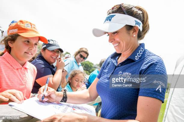Gerina Piller of the United States signs autographs following the second round of the Volunteers of America North Texas Shootout at Las Colinas...