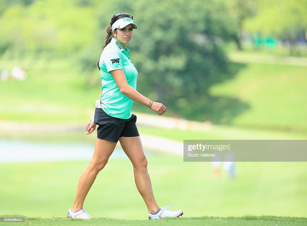 <a gi-track='captionPersonalityLinkClicked' href=/galleries/search?phrase=Gerina+Piller&family=editorial&specificpeople=7855082 ng-click='$event.stopPropagation()'>Gerina Piller</a> walks to the third hole during the third round of the Volunteers of America Texas Shootout at Las Colinas Country Club on April 30, 2016 in Irving, Texas.