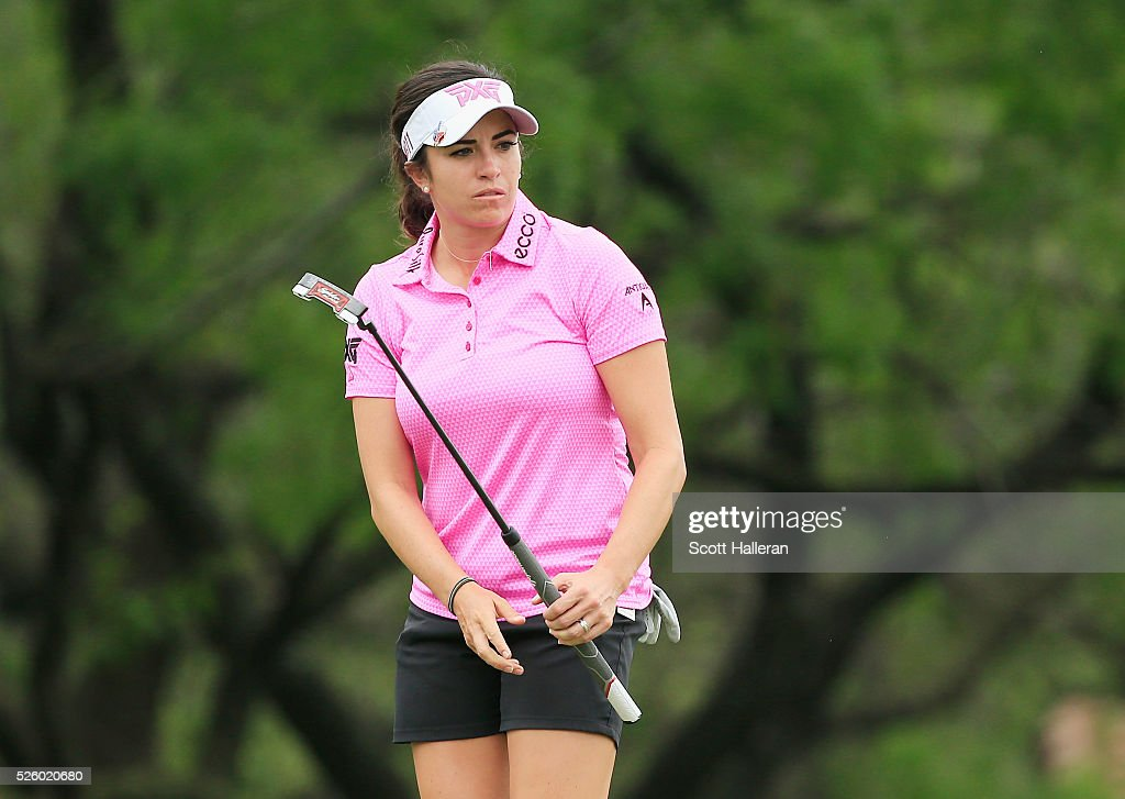 <a gi-track='captionPersonalityLinkClicked' href=/galleries/search?phrase=Gerina+Piller&family=editorial&specificpeople=7855082 ng-click='$event.stopPropagation()'>Gerina Piller</a> watches her birdie attempt on the second green during the second round of the Volunteers of America Texas Shootout at Las Colinas Country Club on April 29, 2016 in Irving, Texas.