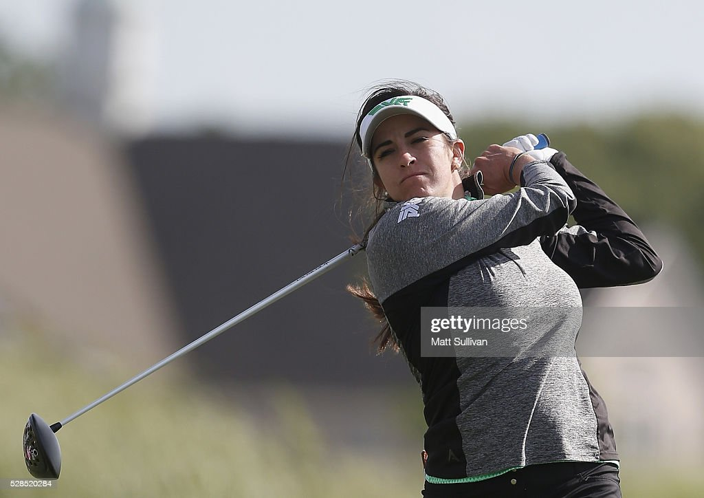 <a gi-track='captionPersonalityLinkClicked' href=/galleries/search?phrase=Gerina+Piller&family=editorial&specificpeople=7855082 ng-click='$event.stopPropagation()'>Gerina Piller</a> watches her tee shot on the third hole during the Yokohama Tire Classic on May 05, 2016 in Prattville, Alabama.