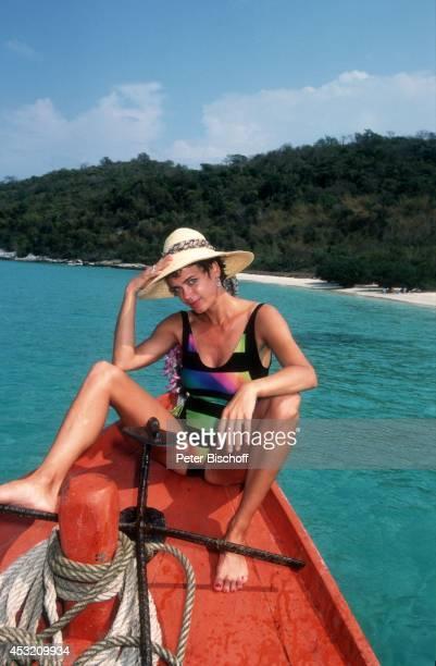 Gerit Kling am am Rande der Dreharbeiten zur ZDFSerie 'Verschollen in Thailand' auf 'Bamboo Island' bei Pattaya Thailand