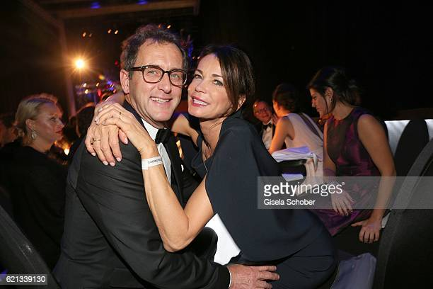 Gerit Kling and her boyfriend Wolfram Becker during the aftershow party of the 23rd Opera Gala at Deutsche Oper Berlin on November 5 2016 in Berlin...