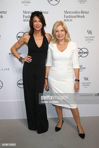 Gerit Kling and Sabine Postel attend the Minx by Eva Lutz show during the MercedesBenz Fashion Week Berlin Spring/Summer 2017 at Erika Hess...
