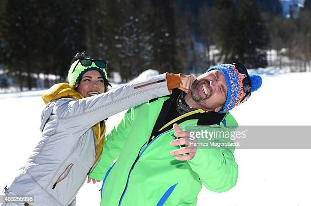 Gerit Kling and Sven Ottke attend the 'Star Biathlon 2015' on February 12 2015 in GarmischPartenkirchen Germany