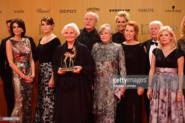 Gerit Kling Anja Kling Ruth Maria Kubitschek guest Grit Boettcher Inka Bause Gaby Dohm Peter Weck and Sabine Postel are seen at the Bambi Awards 2015...