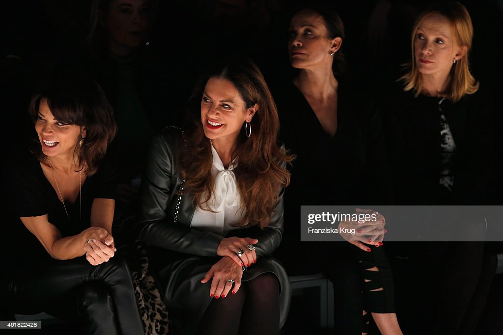Gerit Kling Christine Neubauer Sonja Kirchberger and Katja Flint attend the Minx by Eva Lutz show during the MercedesBenz Fashion Week Berlin...