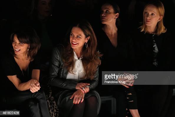 Gerit Kling Christine Neubauer Sonja Kirchberger and Katja Flint attend the Minx by Eva Lutz show during the MercedesBenz Fashion Week Berlin...