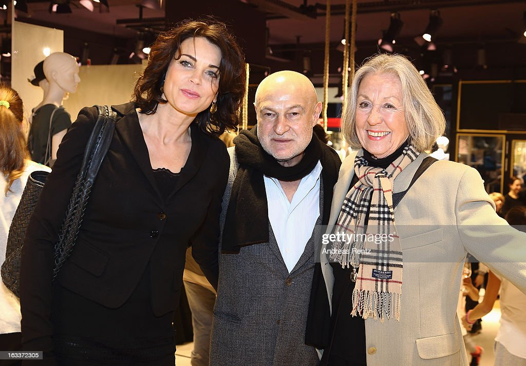 Gerit Kling, David Kramberg (Dimensione Danza Deutschland) and Roswitha Voelz attend 'Dimensione Danza' - Berlin store opening on March 8, 2013 in Berlin, Germany.