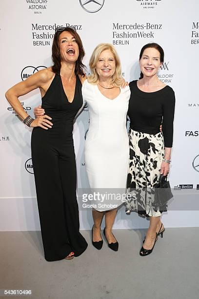 Gerit Kling Sabine Postel and Gudrun Landgrebe attend the Minx by Eva Lutz show during the MercedesBenz Fashion Week Berlin Spring/Summer 2017 at...