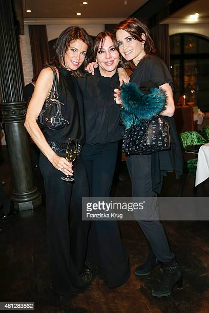Gerit Kling Simone Thomalla and Anja Kling attend the Grace Restaurant Grand Opening on January 10 2015 in Berlin Germany