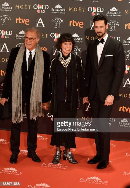 Gerladine Chaplin and Stany Coppet attend Goya Cinema Awards 2017 at Madrid Marriott Auditorium on February 4 2017 in Madrid Spain