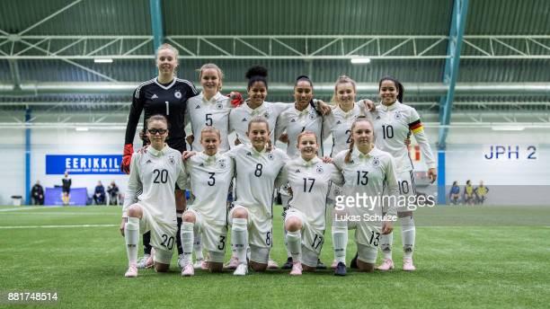 Germ team line up for the team photo with Goalkeeper Wiebke Willebrandt Greta Stegemann Shekiera Martinez Johanna Fuerst Michelle Weiss Ivana Fuso...
