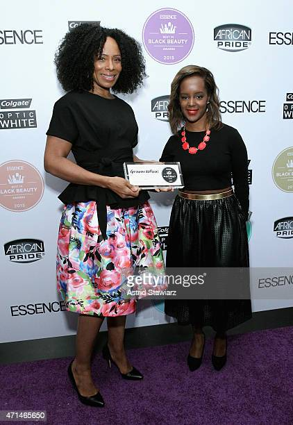 Germaine Williams and Beauty Editor of Essence Magazine Nykia Spradley attend Essence's Best in Black Beauty Awards sponsored by African Pride and...