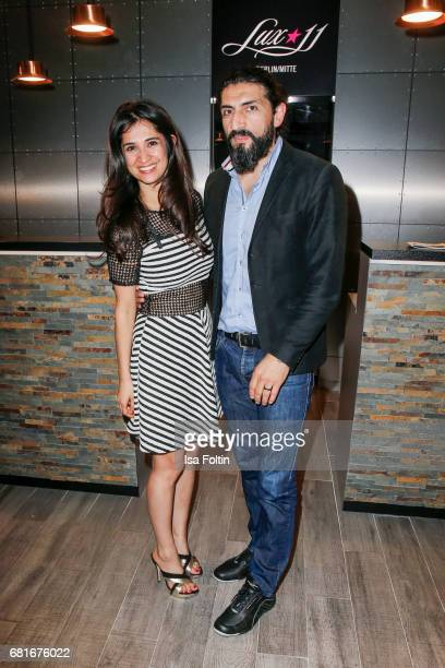 German actess Rabeah Rahimi and German actor Numan Acar attend the opening party of the 1st TV Series Festival at Lux 11 on May 10 2017 in Berlin...