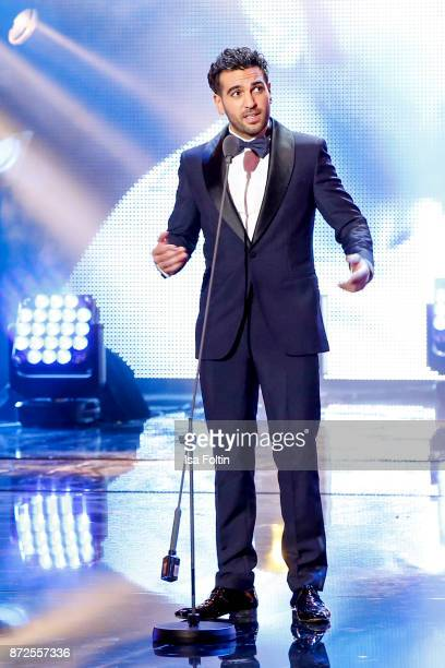 German actor and award winner Elyas MBarek live on stage at the GQ Men of the year Award 2017 show at Komische Oper on November 9 2017 in Berlin...