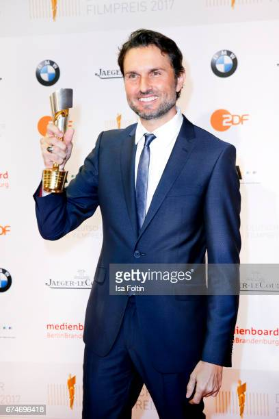 German actor and award winner for best film Simon Verhoeven at the Lola German Film Award winners board at Messe Berlin on April 28 2017 in Berlin...