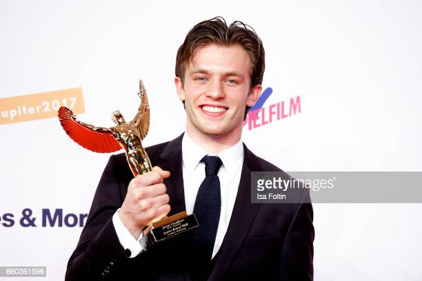German actor and award winner Jannis Niewoehner attends the Jupiter Award at Cafe Moskau on March 29 2017 in Berlin Germany