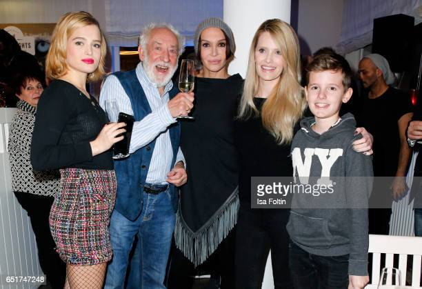 German actor and comedian Dieter Hallervorden german actress Anouschka Renzi with her daughter Chiara Moon Horst and german actress Mirja du Mont...