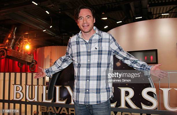 German actor and comedian Michael 'Bully' Herbig poses ahead of the bullyversum opening at Bavaria film City on June 11 2011 in Munich Germany