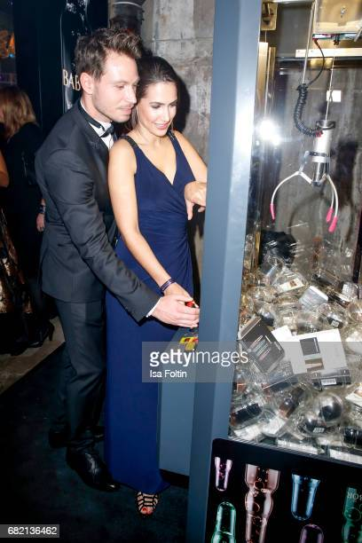 German actor and Model Sebastian Pannek and his girlfriend CleaLacy Juhn attend the Duftstars at Kraftwerk Mitte on May 11 2017 in Berlin Germany