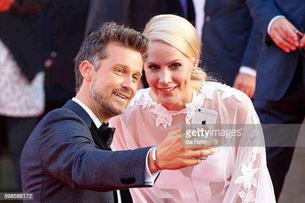 German actor and moderadtor Wayne Carpendale and german news anchor Judith Rakers attend the IFA 2016 opening gala on September 1 2016 in Berlin...