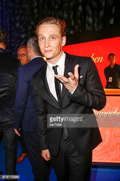 German actor and producer Matthias Schweighoefer during the aftershow party at the Goldene Henne on October 28 2016 in Leipzig Germany