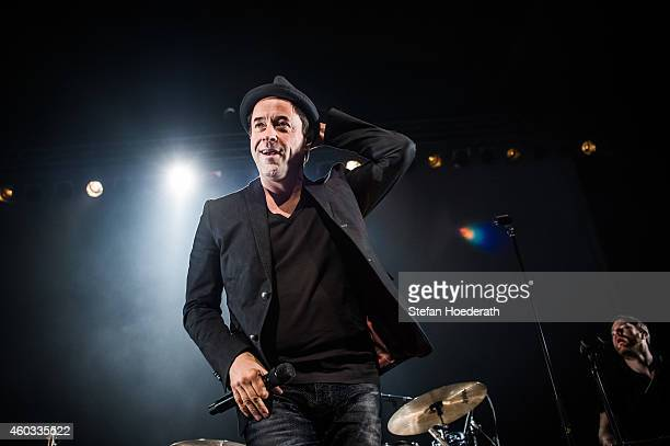 German actor and singer Jan Josef Liefers of Radio Doria performs live on stage during a concert at Columbiahalle on December 11 2014 in Berlin...