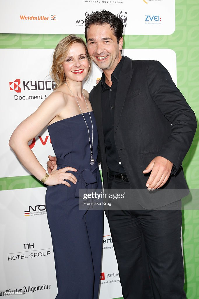 German actor Andreas Elsholz and his wife Denise Zich attend the Green Tec Award at ICM Munich on May 29, 2016 in Munich, Germany.