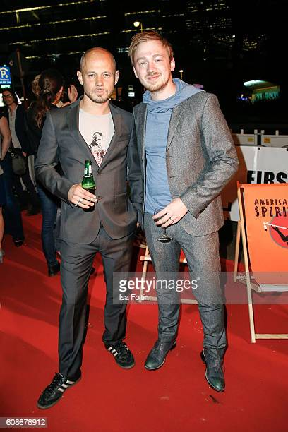 German actor Antonio Wannek and german actor Tino Mewes attend the First Steps Awards 2016 at Stage Theater on September 19 2016 in Berlin Germany