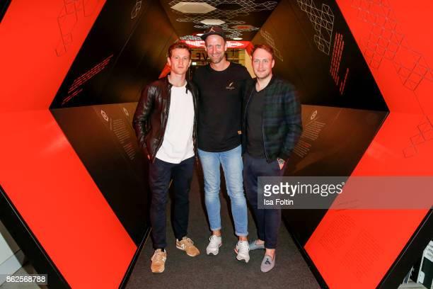 German actor Artjom Gilz German actor and influencer Daniel Termann and German actor Martin Stange attend the Clich'e Bashing 'Beef mit den Veggies'...