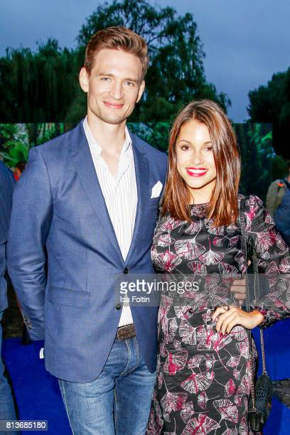 German actor August Wittgenstein and German actress Anna Julia Kapfelsperger aduring the summer party 2017 of the German Producers Alliance on July...