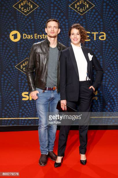 German actor August Wittgenstein and German actress Anna Schaefer attend the 'Babylon Berlin' Premiere at Berlin Ensemble on September 28 2017 in...