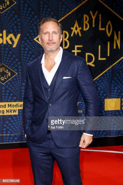 German actor Benno Fuermann attends the 'Babylon Berlin' Premiere at Berlin Ensemble on September 28 2017 in Berlin Germany