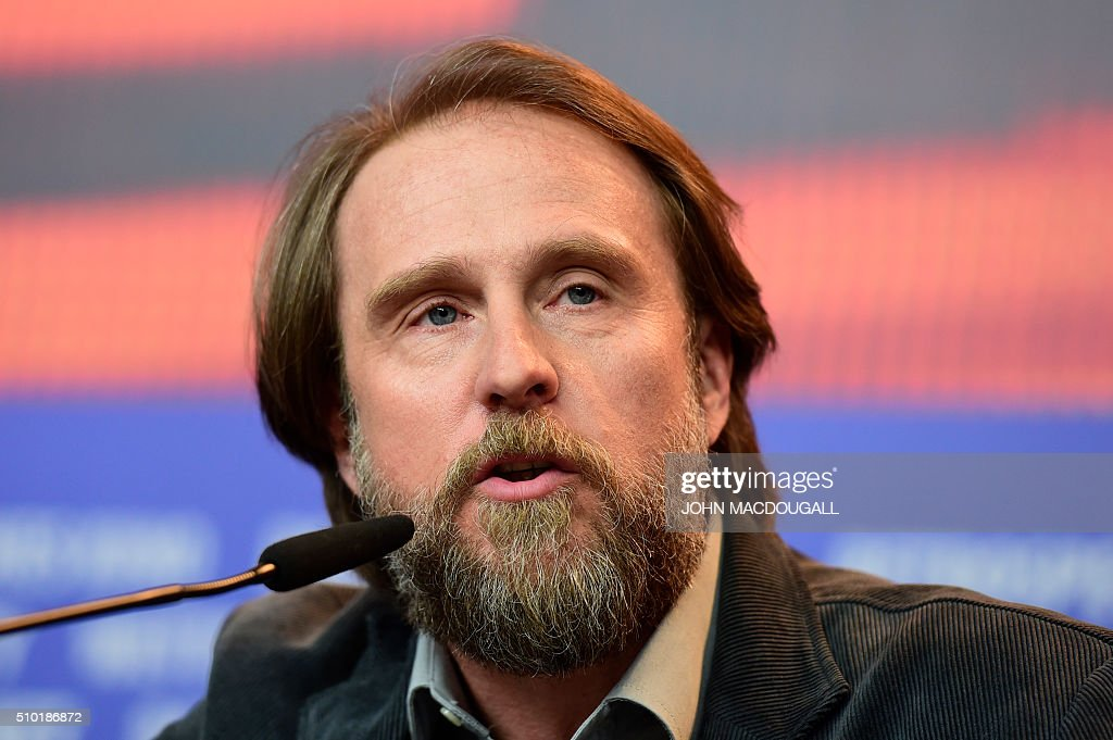 German actor Bjarne Maedel addresses a press conference for the film '24 Weeks' (24 Wochen)during the 66th Berlinale Film Festival in Berlin on February 14, 2016. / AFP / John MACDOUGALL