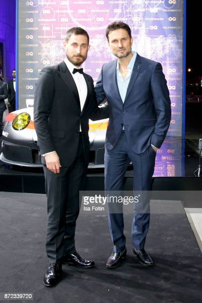 German actor Clemens Schick and German actor Simon Verhoeven arrive for the GQ Men of the year Award 2017 at Komische Oper on November 9 2017 in...