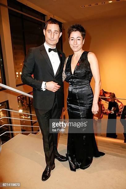 German actor Clemens Schick and german moderator Dunja Hayali arrive at the 23rd Opera Gala at Deutsche Oper Berlin on November 5 2016 in Berlin...