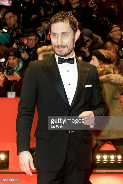German actor Clemens Schick attends the 'Django' premiere during the 67th Berlinale International Film Festival Berlin at Berlinale Palace on...
