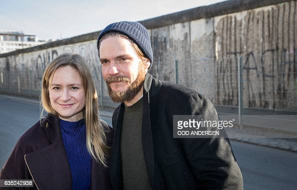 German actor Daniel Bruehl and jury member German actress Julia Jentsch and other jury members and delegates at the 67th Berlinale film festival pose...