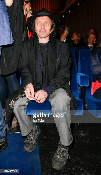 German actor David Bennent attends the Deutscher Hoerfilmpreis at Kino International on March 21 2017 in Berlin Germany