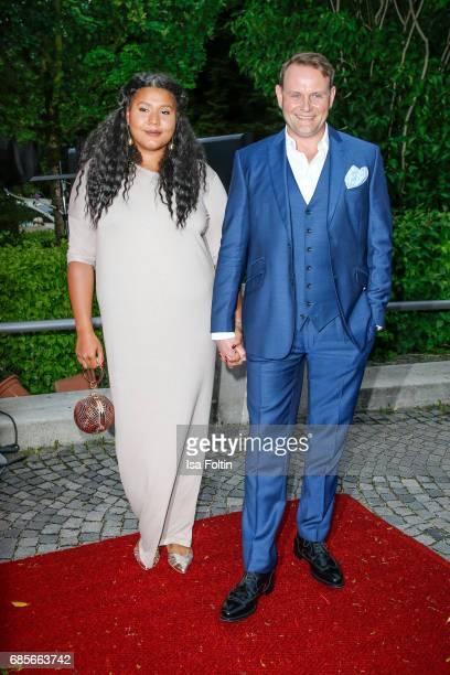 German actor Devid Striesow and his wife Francine Striesow attends the Bayerischer Fernsehpreis 2017 at Prinzregententheater on May 19 2017 in Munich...