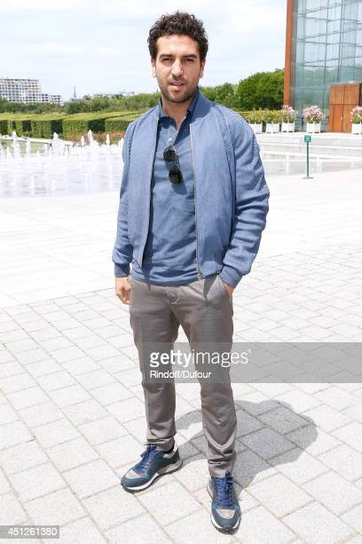 German actor Elyas M'Barek attends the Louis Vuitton show as part of the Paris Fashion Week Menswear Spring/Summer 2015 on June 26 2014 in Paris...