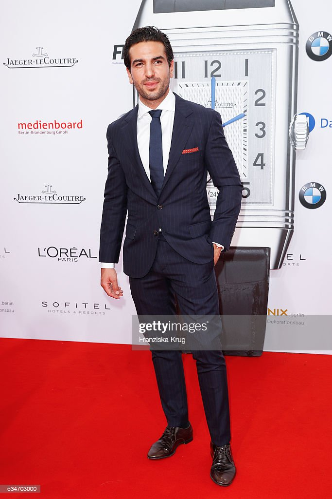 German actor <a gi-track='captionPersonalityLinkClicked' href=/galleries/search?phrase=Elyas+M%27Barek&family=editorial&specificpeople=3967406 ng-click='$event.stopPropagation()'>Elyas M'Barek</a> during the Lola German Film Award (Deutscher Filmpreis) 2016 on May 27, 2016 in Berlin, Germany.