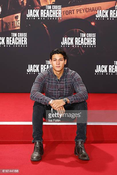 German actor Emilio Sakraya attends the 'Jack Reacher Never Go Back' Berlin Premiere at CineStar Sony Center Potsdamer Platz on October 21 2016 in...
