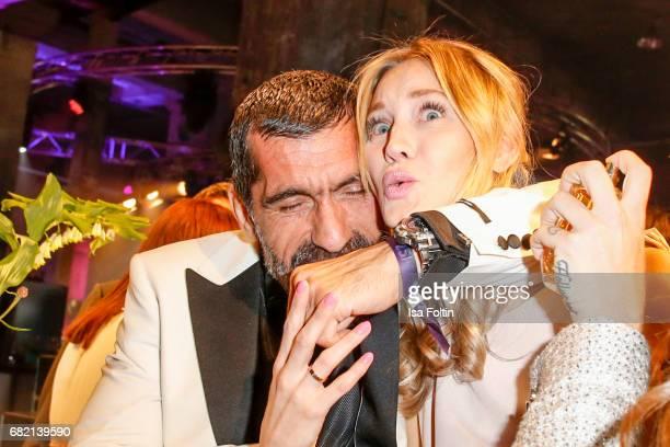 German actor Erdal Yildiz and Model Mandy Bork attend the Duftstars at Kraftwerk Mitte on May 11 2017 in Berlin Germany