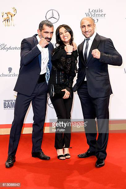 German actor Erdal Yildiz german actress Rabeah Rahimi and boxer Arthur Abraham attend the Tribute To Bambi at Station on October 6 2016 in Berlin...