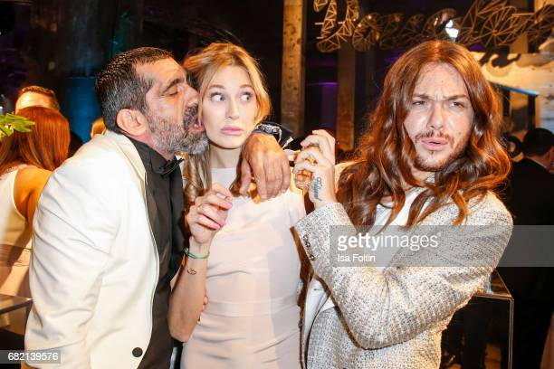 German actor Erdal Yildiz Model Mandy Bork and Influencer Riccardo Simonetti attend the Duftstars at Kraftwerk Mitte on May 11 2017 in Berlin Germany